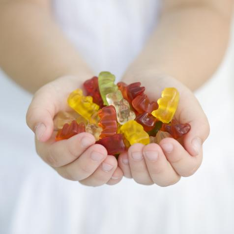 Child with gummies