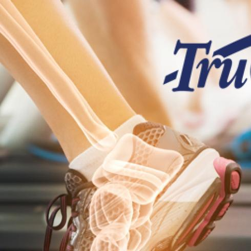 legs bones on treadmill trucal logo