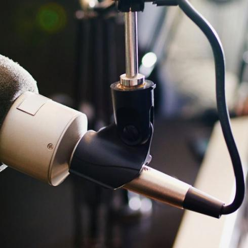 microphone for The Evolution & Future of Bars Podcast with Food Matters Live